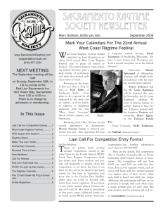 Newsletter cover, September 08
